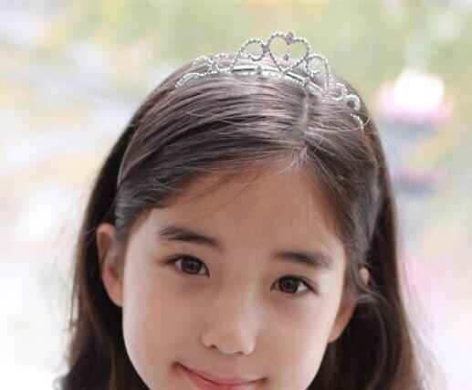 Cute Children tiara crown Wedding Jewelry Flower girl princess crystal rhineston