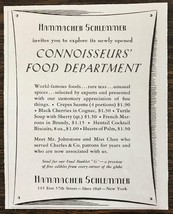 1942 Hammacher Schlemmer Print Ad Newly Opened Connoisseur's Food Depart... - $8.75