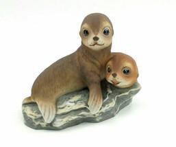 Vintage Homco Home Interior MASTERPIECE PORCELAIN Seal SEA LION Figurine... - $43.22
