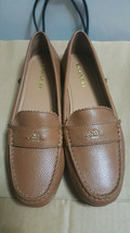 New Coach New York Leather Odette Saddle Brown Work Comfort Flats 8.5 8 1/2 B - $89.09