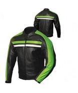 QASTAN Men's New Superb Black Motorbike CE Protectors Leather Jacket QMMJ17 - $199.00+