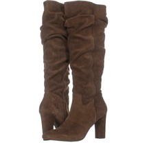 Franco Sarto Artesia Pointed Toe Slouch Knee High Boots 317, Light Brown Suede, - $71.03