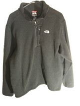 Mens North Face 1/4 Zip Up Pull Over Sweater Jacket Black Size XL - $25.18