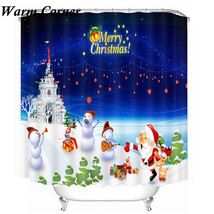 20 Types 3D Shower Curtains christmas Waterproof Polyester Bathroom Shower Curta - $38.43