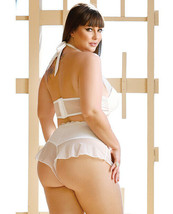 ELEGANCE THE JENNIFER HALTER MOLDED CUP TOP & TAP PANTIES RUFFLED ACCENT... - $39.19