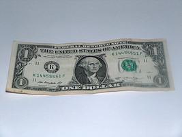 2013 $1 One Dollar Bill US Bank Note 1 Caps 4-5s Pair 14455551 Fancy Serial # - $12.40