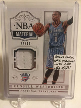 2014-15 Panini National Treasures NBA Material #NBARW Russell Westbrook ... - $11.40
