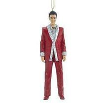 Elvis® In Red Lamé Suit Ornament w - $16.99