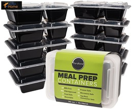 Durahome - Meal Prep Containers, 10-Pack 2 Comp... - $16.44