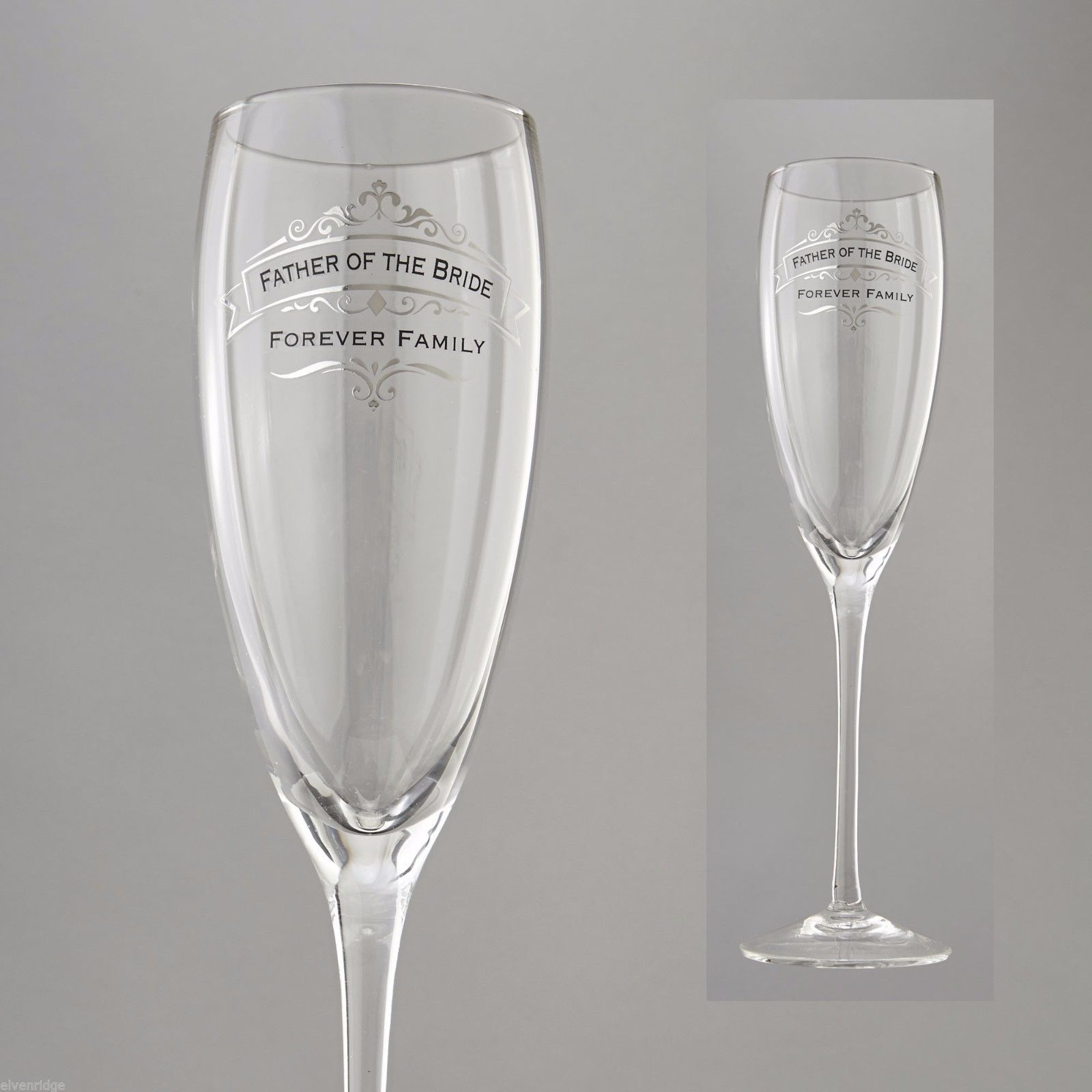 Father of the Bride Forever Family Toasting Glass Insignia Brand in Gift Box