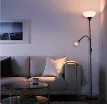 IKEA NOT FLOOR UPLIGHT READING LAMP BLACK WHITE - $14.50