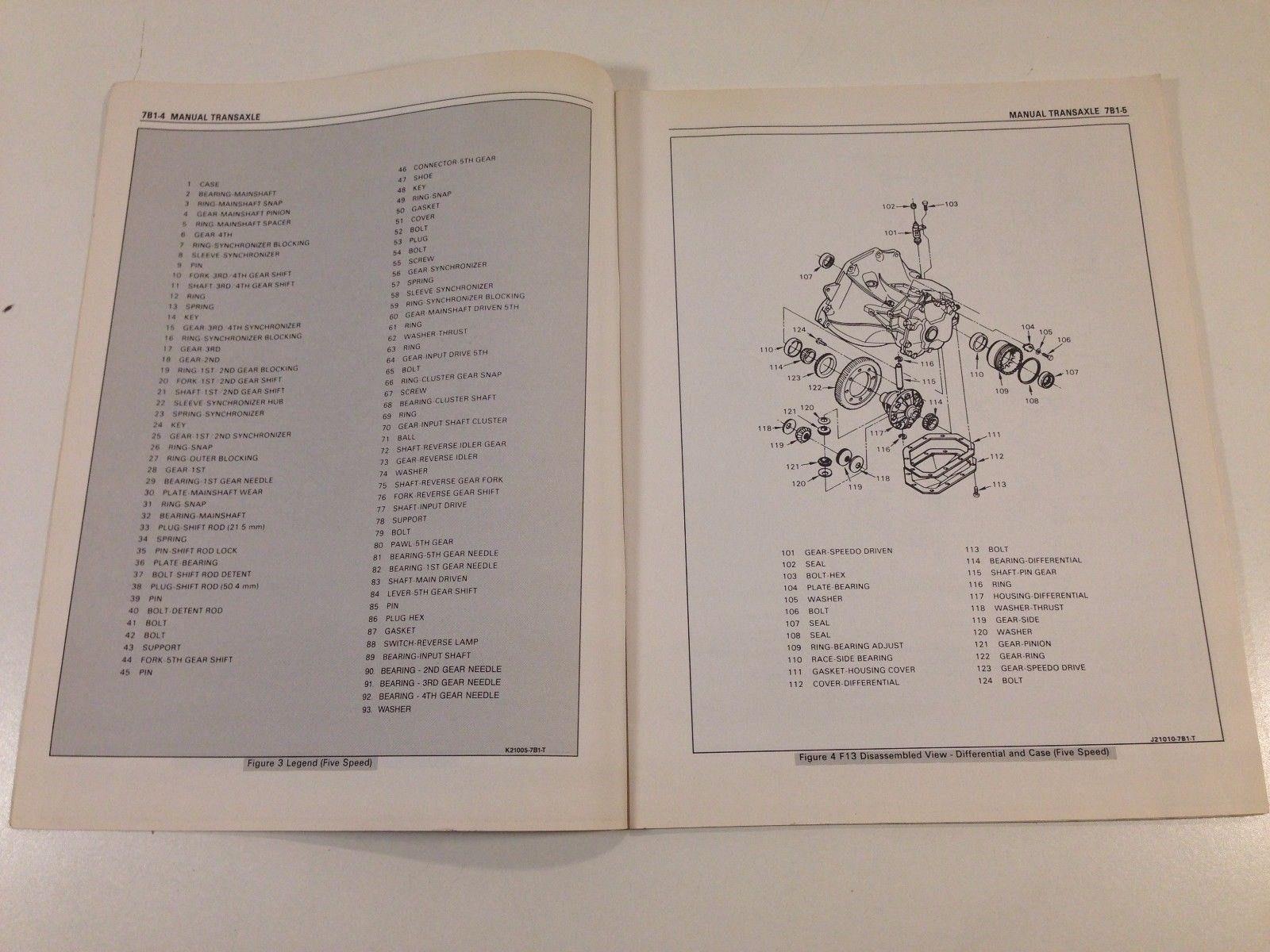 1988 Pontiac LeMans Shop Service Manual Supplement S-8810S-T F16 Four & Five Sp