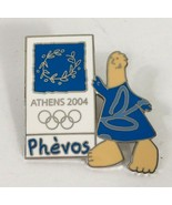 Athens 2004 Olympic Pin Phevos Mascot Blue Greece Games Trading Lapel Ha... - $12.86