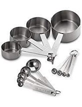Baker's Dozen 13-Piece Measuring Cups and Spoons Set - £24.17 GBP