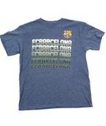 Fcb Barcelona Football T-Shirt / L Manche Courte Hommes Futtball Bleu He... - $18.81