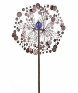 "75"" Iron Flower Design Wind Spinner Triple Pronged Metal Garden Stake - $197.99"