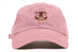 Kanye West Embroidered Pink Dropout Bear Dad Hat Drake Pablo Baseball Ca... - $9.50