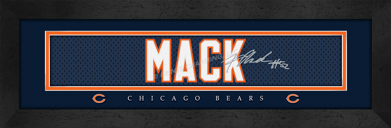 reputable site 0f8b1 a2824 Khalil Mack Chicago Bears Player Signature and 50 similar items