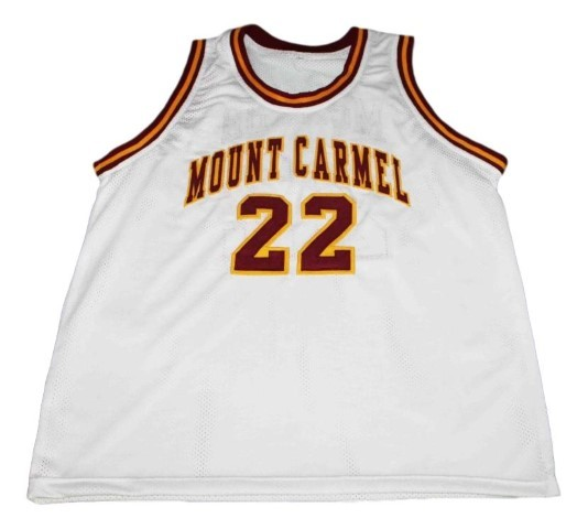 Donovan mcnabb  22 mount carmel high school new men basketball jersey white   1