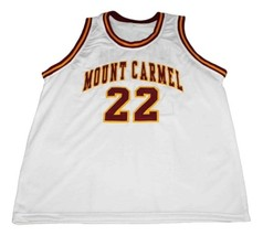 Donovan McNabb #22 Mount Carmel High School Basketball Jersey New White Any Size image 1