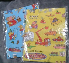 American greetings wrapping paper 2 customer reviews and 181 listings vtg richard scarry39s busytown wrapping paper gift wrap american greetings lot m4hsunfo
