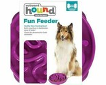 Outward Hound Fun Feeder Slo-Bowl Healthy Slow Feeding Dog Bowl, Large, Purple
