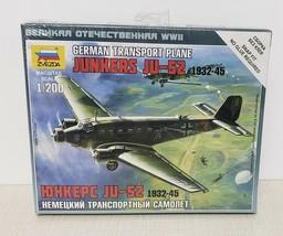 Junkers JU-52 WWII German Transport Plane 1/200 Scale Model Kit by Zvezda - $6.24