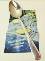 "Holmes Edwards Serving Spoon Youth Pattern Inlaid Silverplate  8 1/2"" - $5.53"