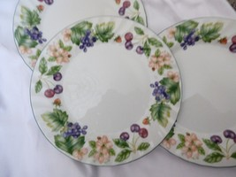 """Set of 3 Johnson Brothers CHERRY BLOSSOM Salad Plate 7.75"""" Made in England - $39.60"""