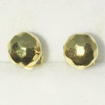 Brand New Yellow Gold on 925 Solid Sterling Silver Sphere shaped disco b... - $16.84