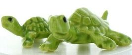 Hagen Renaker Miniature Turtle Mama and Baby Ceramic Figurine Set image 3