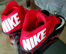 Nike Mens Zoom Football Cleats - Black & Red, Size 18, # 620499-6025 (Brand New) - $25.25