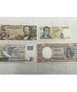 Lot of 4 Difference Foreign Paper Money Cinco, France,Singapore, Zwanzig - $14.65