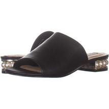 Steve Madden Briele Flat Sandals 990, Black, 6.5 US - $22.07