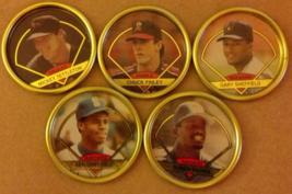 Baseball coins (5) Topps 1990 - $6.25