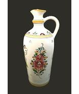 "Slovakia Ceramic Pottery Pitcher Jug 9.5"" Keramika Signed Modra Painted ... - $47.52"