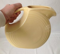 "Vintage Fiesta Ware Yellow Disc Pitcher Large 7.5"" Tall 1987-2002 - $39.95"