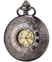 SEWOR Vintage Hollow Pocket Watch Automatic Mechanical Self Wind & Luxur... - $23.21