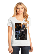 Black Panther District Made Ladies Perfect Weight V-Neck T-Shirt Size XS To 4XL - $19.99+