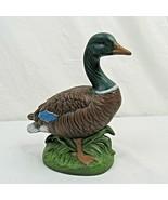 "Mallard Duck Figurine Ceramic 7.5"" Male Vintage - $29.69"