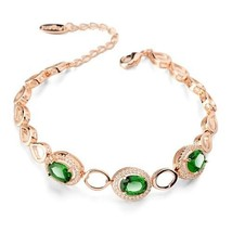 Beautiful AAA Zixon Green and Clear Crystal Womens Bracelet - $84.14