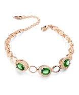 Beautiful AAA Zixon Green and Clear Crystal Womens Bracelet - $67.31