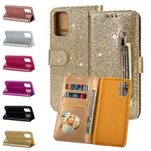 For Samsung Galaxy S20 Ultra S20 S10+ Bling Glitter Leather Wallet Stand Cover - $55.00