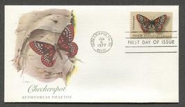 Jun 6 1977 Butterfly Series – Checkerspot Fleetwood FDC #1713 - $3.99