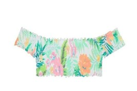 Victoria'S SECRET Rosa Fruncido Hombros Al Descubierto Bikini Nadar Top - $29.68