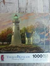 THOMAS KINKADE Painter Of Light 1000 Piece Puzzle w/ old house & lighthouse - $19.95