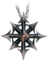 SteamPunk Victorian Alchemy Gothic Chaos Star Two Tone Pendant Necklace NEW - $32.85
