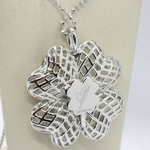Necklace Silver 925 with Pendant Four-Leaf Clover by Maria Ielpo , Made in Italy image 3