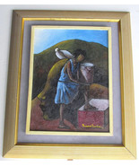 1997 Rare Signed Yves Henri Trocher Contemporary Art Painting Haiti - Li... - $1,499.99