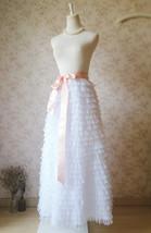 WHITE Long Tulle Skirt White Layered Tulle Skirt White Wedding Skirt image 1
